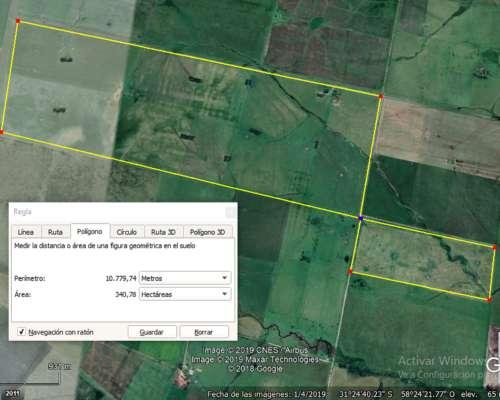 Vendo: 340 HA. Zona Rural Yerua, Concordia (entre Ríos)
