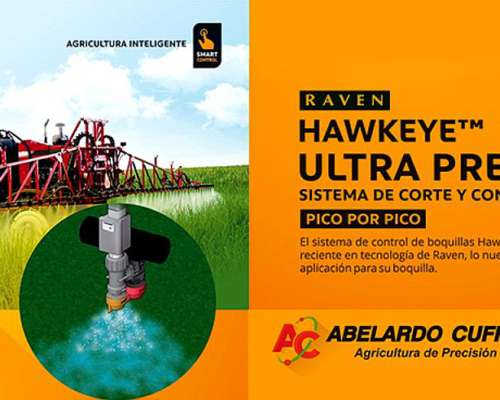 Sistema de Control de Boquillas Pulverizador Hawkeye Raven.