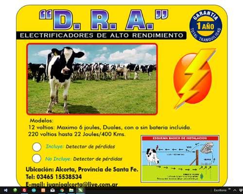 Electrificador-boyero Dra, 12v, 10 Joules/200km