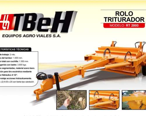 Rodillo Triturador RT 2000 - Tbeh