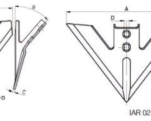 Escardillo para Arcos Tipo`c y `S Ingersoll - Agrodruetta