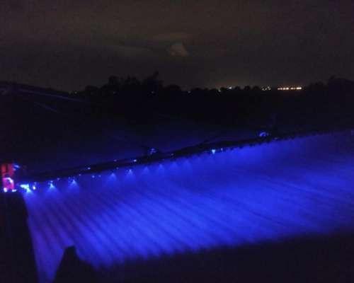 Faro LED Azul para Botalón, 48w, 16 LED