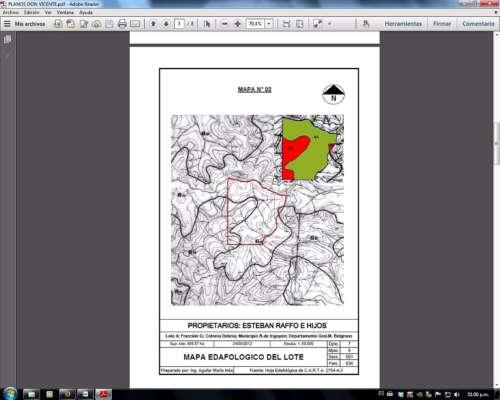 500 Ha a 45 km de Brasil (85% Aprovechable)