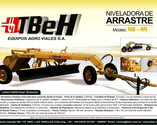 Niveladora de Arrastre Mod N8 - 4r Tbeh