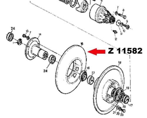 Polea Variador de Cilindro 1175/1185