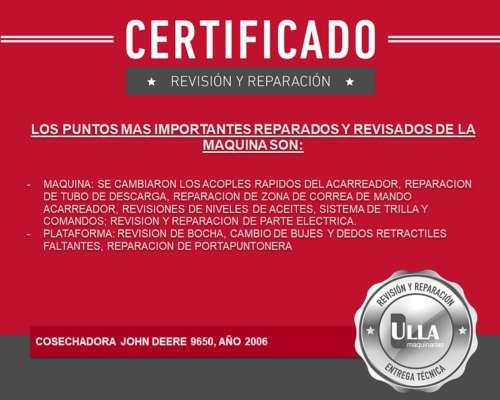 John Deere 9650, 2006, Certificada, Hasta 5 Años Tasa 0%