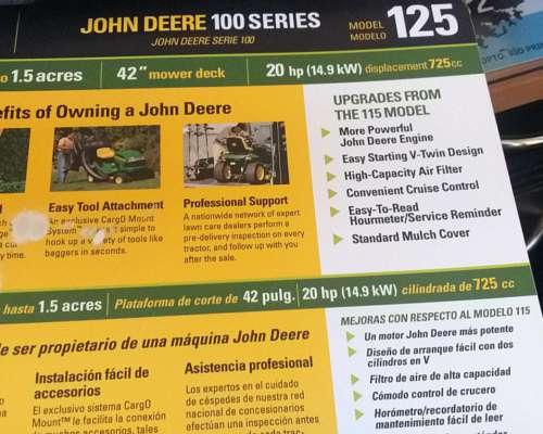 John Deere Modelo 125