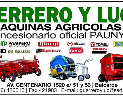 Tractor Pauny 280a con Duales 18.4x38, Tres Puntos. Nuevo