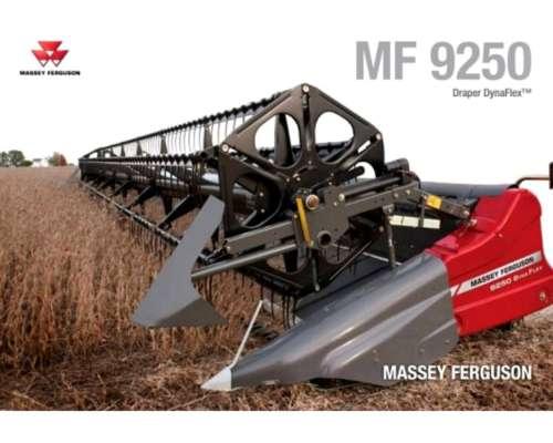 Plataforma Massey Ferguson MF 9250 Draper Dynaflex 35 Pies