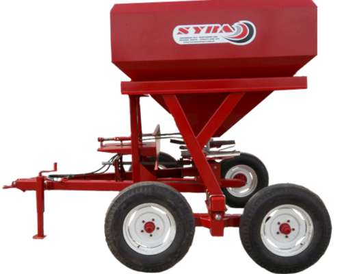 Fertilizadora de Arrastre Doble Plato 3000 KG. Nueva Syra