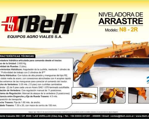 Niveladora de Arrastre Mod N8 - 2r Tbeh