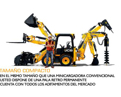 Minicargador / Mini Retropala JCB 1cx