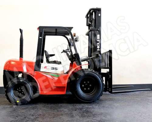 Autoelevador Heli 3500 Kg Diesel Isuzu Todoterreno