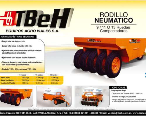 Rodillo Neumático RAN 9r-ran 11r-ran 13r - Tbeh