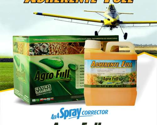 Adherente Full 4x4 + Corrector Ph + Sec. Cation + Antiespuma