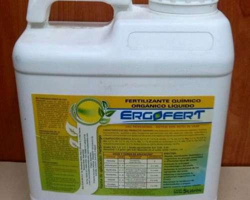 Fertilizante Orgánico Líquido Ergofert X 5 Lts.