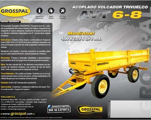 Acoplado Volcador Trivuelco AVT 8000 - Grosspal