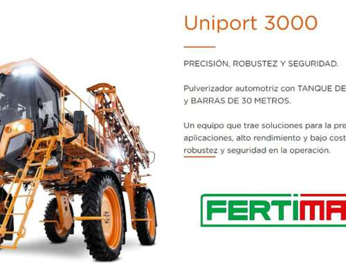 Jacto Uniport 3000. Industria Argentina. Corte por Secciones
