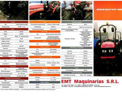 Nuevo Apache 75 Nt 4wd Estrecho