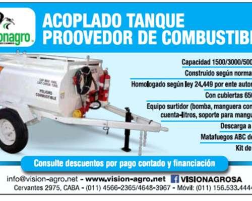 Acoplado Tanque Proveedor de Combustible Homologado 1500 Lts