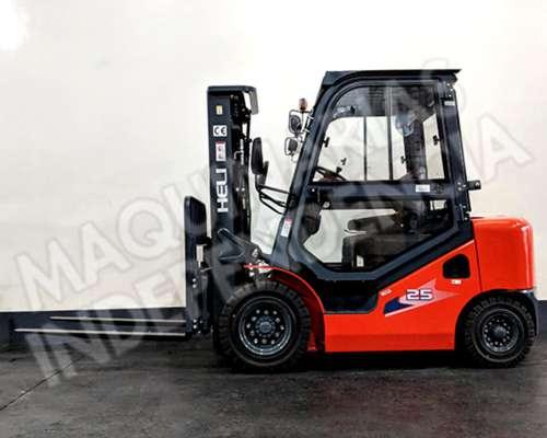 Autoelevador Heli 2500 Kg Diesel Isuzu CPCD25 Cabina 0km