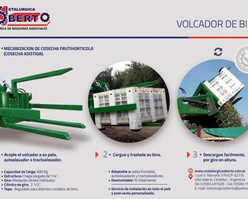 Volcador de Bins- Adaptable a Montacargas/autoelevadores