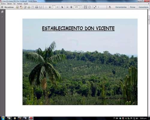 A 45 KM. de Brasil, 500 Ha (85% Aprovechables)