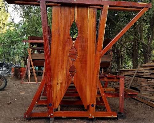 Cepo Yugo Quebracho 3 P/brete Reforzado a Cremayera Agraso