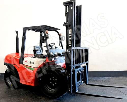 Autoelevador Todo Terreno Heli 3500 Kg Diesel Isuzu CPCD35