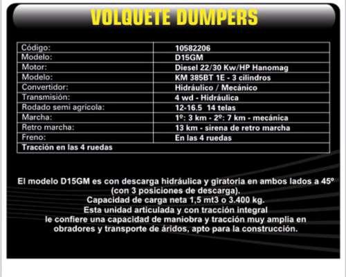 Dumper Volquete D15gm Volquete Michigan