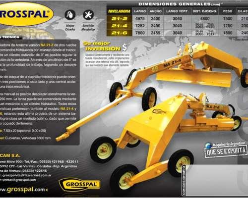 Niveladora de Arrastre NA 21-6 - Grosspal