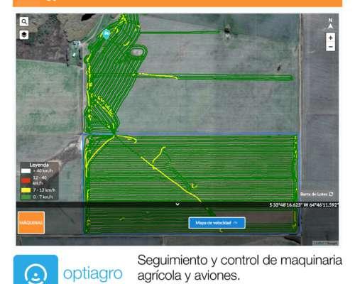 Control y Seguimiento de Maquinaria Agrícola Optiagro
