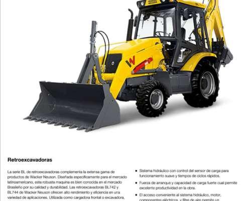 Pala Retro Wacker - 4X2 110 HP - Nueva 0hs