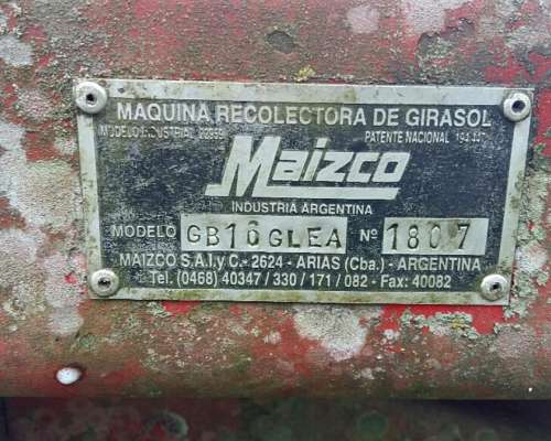 Girasolero Maizco GB 16 Surcos a 70