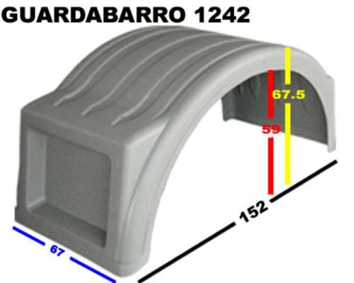 Guardabarros Plasticos Mercedes Benz 1634 - 1620 -1624 -
