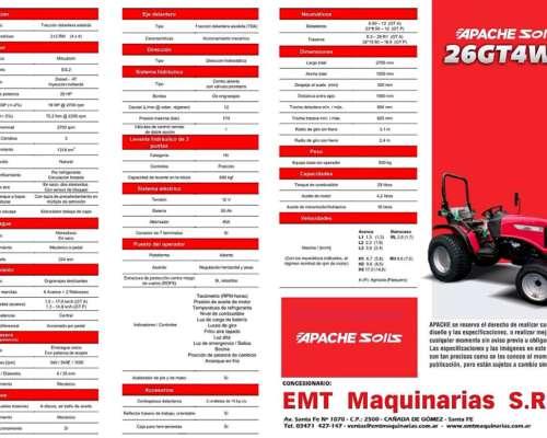Apache-solis GT 26 4wd - Precio Bonificado