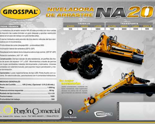 Niveladora de Arrastre Grosspal NA 20 MAX
