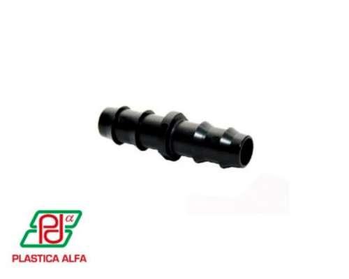 Conector Doble Espiga 16mm / 20mm Plástica Alfa