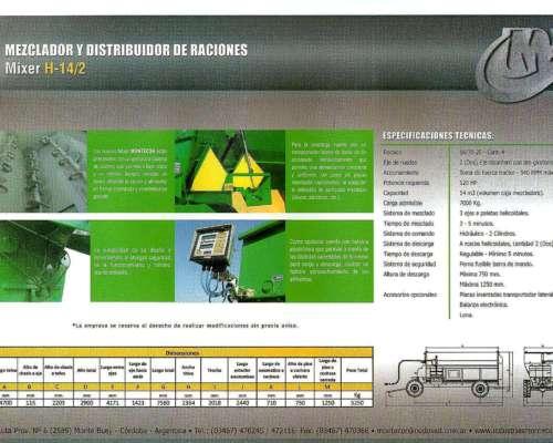 Montecor Mezclador y Distribuidor de Raciones