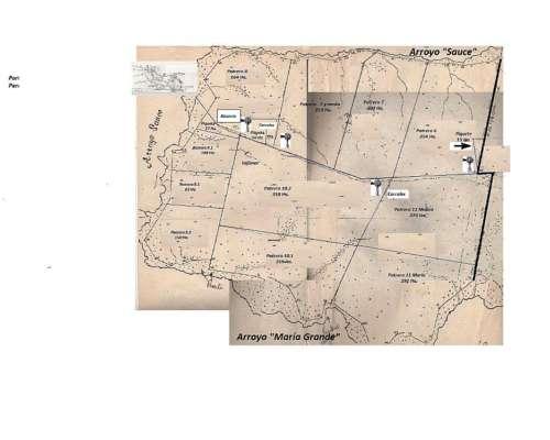 Excelente Campo de 2.400 Ha.en Curuzú